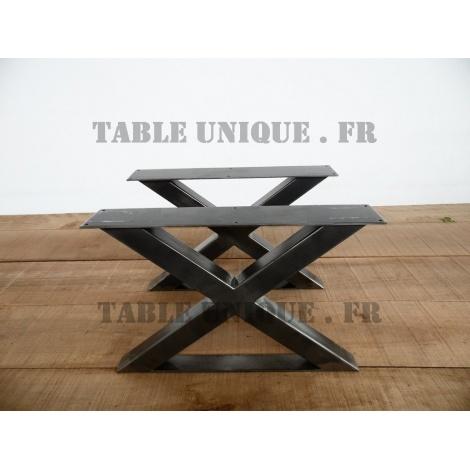 Pieds de table en X