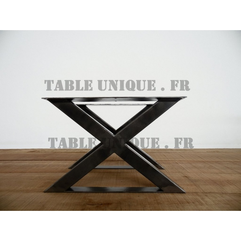 pieds de table en x pieds de table en m tal. Black Bedroom Furniture Sets. Home Design Ideas