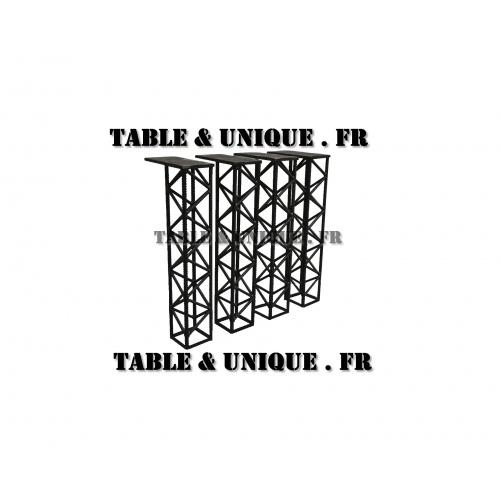 Pied de table de salle à manger en fer à béton