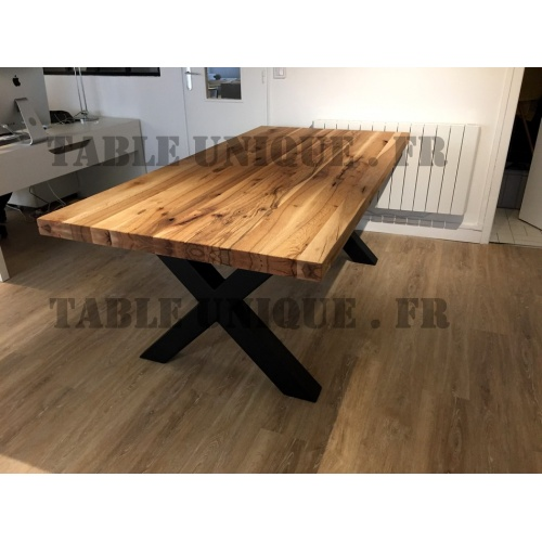 vendu table en vieux bois de ch ne massif table unique. Black Bedroom Furniture Sets. Home Design Ideas