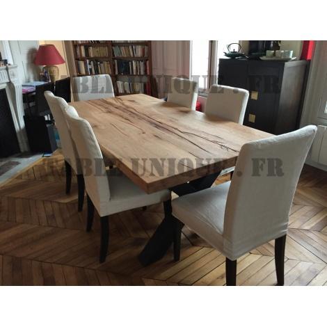 Table en bois de chêne industrielle vendu 950 Euros