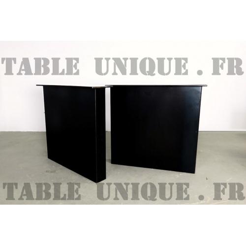 pieds de table de salle manger en m tal. Black Bedroom Furniture Sets. Home Design Ideas