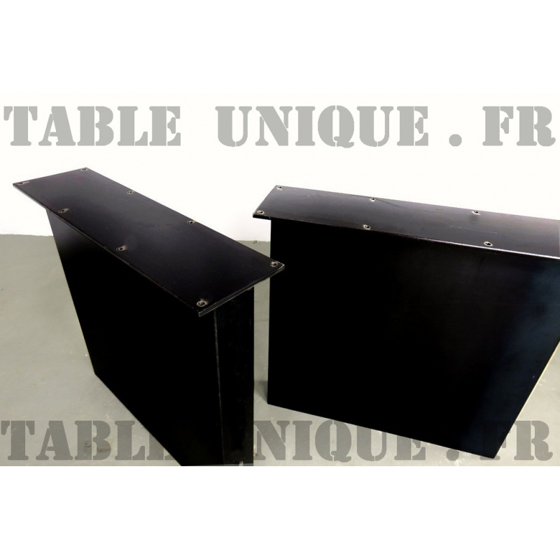 pieds de table de salle manger en m tal. Black Bedroom Furniture Sets. Home Design Ideas