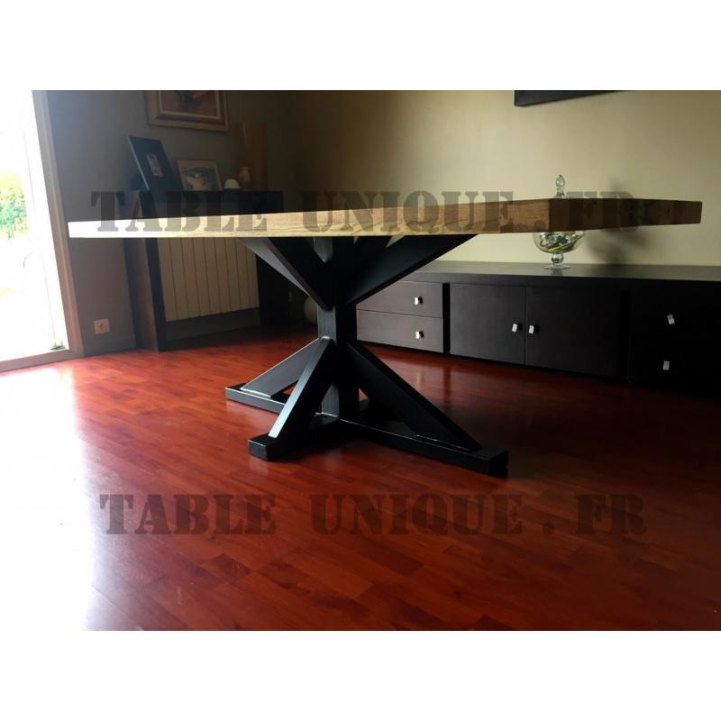 Vendu Table En Ch Ne Avec Pied Central En M Tal Table Unique
