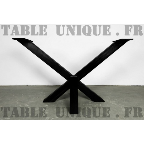 Pied De Table Central Metal Noir