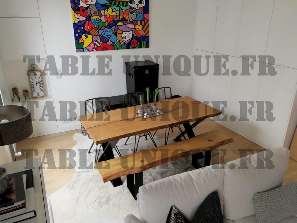 table de salle à manger en vieux chêne